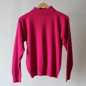 Super Soft Pink Mockneck Sweater